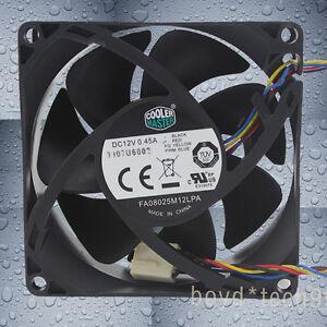 COOLER MASTER FA08025M12LPA 80mm 80x80x25mm DC12V 0.45A 8025 4pin Cooling Fan