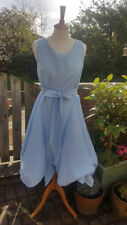 Handmade ruched Alice dress in baby blue size 14