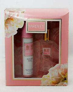 Yardley English Rose Eau de Toilette 50ml & Body Spray 75ml Gift Set For Her New