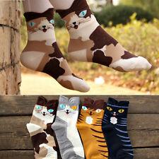 Hot 3D Animals Striped Cartoon Socks Women Lady Girl Cat Footprints Cotton Socks