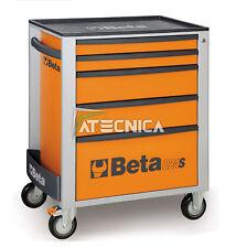 Carrello cassettiera mobile Beta Tools C24S 5/O portautensili 5 cassetti arancio