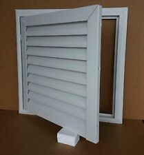 """24"""" WIDE X 24"""" TALL HINGED ALUMINUM GABLE VENT WITH WHITE ENAMEL FINISH"""