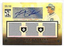 2010 Topps Tribute #MC Miguel Cabrera Triple Jersey Autograph Insert #50/99
