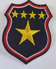 Police Shield 5 Star Military style Iron On Patch Sew on Transfer - Brand New