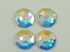 12 Pcs. 10mm CRYSTAL AB SOLARIS HOT FIX Swarovski rhinestones