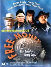 FREE MONEY (Marlon BRANDO Charlie SHEEN Donald SUTHERLAND) Comedy DVD NEW Reg 4