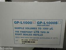 RAININ GP--L1000 1000ul 768 TIPS CASE (8 RACKS OF 96)