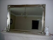 "ANTIQUE SILVER ORNATE LARGE WALL MIRROR - 26"" x 36"" (65cm x 90cm)"