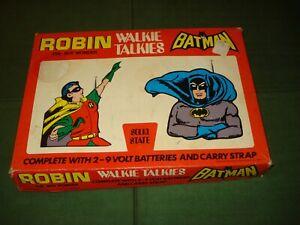 1973 BATMAN AND ROBIN WALKIE TALKIES IN BOX, LICENSED by DC COMICS