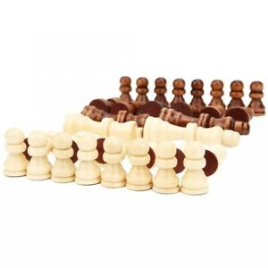 Wooden Chess Pieces – 16 Black Pieces & 16 White Pieces