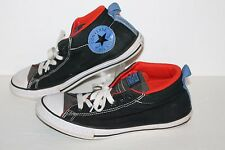 Converse All Star Street Mid Casual Sneakers, #654252F, Blk/Blu/Red, Mens US 6