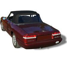 Alfa Romeo Spider Graduate Veloce Convertible Soft Top BLACK Vinyl WITH PADS