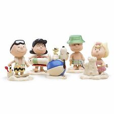 Lenox Peanuts Summer Vacation Figurines Beach Party Charlie Brown Snoopy New