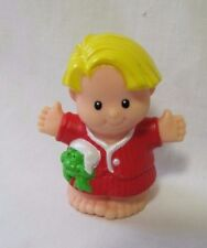 Rare FISHER PRICE LITTLE PEOPLE BAREFOOT EDDIE in PJs CHRISTMAS MORNING Holiday