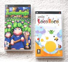 Lot of 2 PLAY STATION PORTABLE GAMES: LEMMINGS & LOCO ROCO! PAL, PSP, COMPLETE!