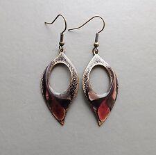 Enamel Copper Drop/Dangle Costume Earrings