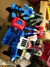 """Lot of 5 Different Transformers Transforming Toys Largest Piece 16"""" High"""