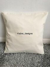 """1 NEW 20"""" PLAIN CREAM COTTON CUSHION COVER OTHER COLOURS SIZES AVAILABLE"""