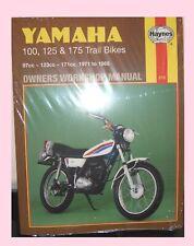 Yamaha 100, 125 and 175 Trail Bikes 1971-85 Owner's Workshop Manual by Mansur Darlington (Paperback, 1988)