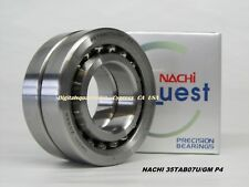 NACHI 35TAB07U/GM P4 Abec-7  Precision Ball Screw Bearings. Matched Set of Two
