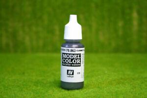 Vallejo Model Color GUN METAL GREY Acrylic Paint 70863
