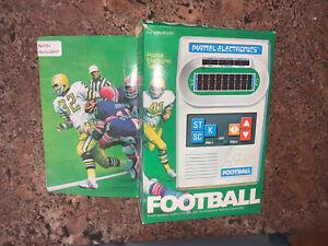 MATTEL FOOTBALL Vintage Handheld Electronic video game 1977 Works !!