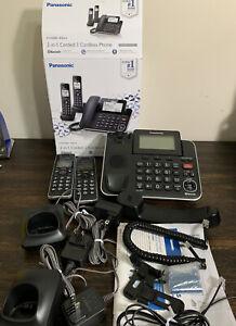Panasonic 2-in-1 Corded/Cordless Phone KX-TGF882 Bluetooth Black PREOWNED!
