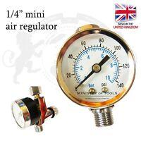 """1/4"""" Mini Air Regulator for Spray Guns painting HVLP LVLP HVMP UK"""