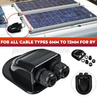 Roof Solar Panel Double Cable Entry Gland Box Connector Motorhome Camper