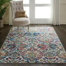 Nourison Ankara Global ANR06 Ivory Blue Multi Large Rug 4' x 6' (120×180 CM)