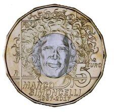 San Marino  € 5  2017 Simoncelli uncirculated bimetallic