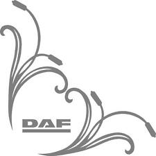 DAF truck word cab window stickers (pair) scroll with daf logo word