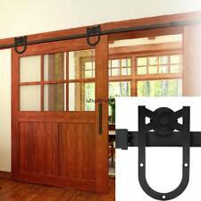 6FT Steel Sliding Barn Wood Door Hardware Set American Countryside On-Sale 02