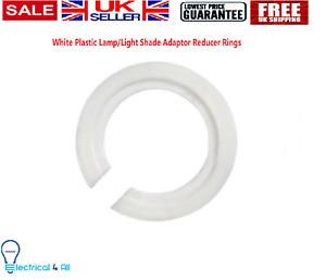 Plastic Lamp/Light Shade Adaptor Reducer Rings EU to UK 1 to 100