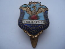C1920S VINTAGE THE BRITISH IRON STEEL&KINDRED TRADES ASSOCIATION ENAMEL BADGE