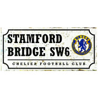 Chelsea FC Stamford Bridge Retro Street Sign - Free UK 1st Class Delivery