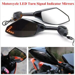 MOTORCYCLE LED TURN SIGNAL INDICATOR MIRRORS FOR SUZUKI SV650S SV1000S 2003~200