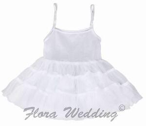 Flower girl Child Hoopless Petticoat/Christening Communion Underskirt/Dance Tutu
