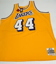 Los Angeles Lakers Jersey Mitchell & Ness LA Jerry West SEWN 1971-72 Men's 4XL