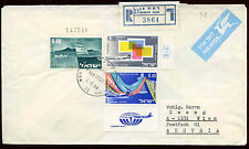 Israel 1968 Registered Cover To Austria #C22453