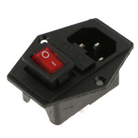 Inlet Module Plug Fuse Switch Male Power Socket 15A 250V 3-Pin IEC320 C14