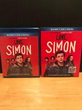 Love, Simon (Blu-Ray, DVD) Like New With Slipcover