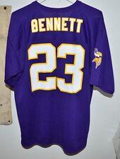 Minnesota Vikings Michael Bennett #23 NFL Purple Men's Game Jersey Large L Rare