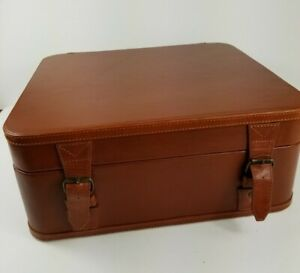 Pottery Barn Wine Carrying Case 3 Bottle Brown ..