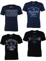 Mustang Camiseta Hombre con impresión Frontal + corte de cuello redondo - Mezcla