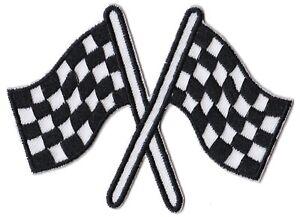 Patch Racing Flag drapeaux écusson patche sports automobiles thermocollant