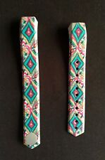 Fitbit Alta Band Silicone Fitness Diamond Paisley Lilly Pink Blue Green Large