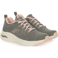 SKECHERS Arch-Fit, Sneakers Donna Grey/Pink, Casual Woman 149058/GYPK ginnastica