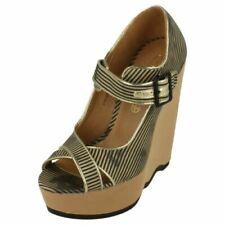 Calzado de mujer sandalias con plataforma negros, talla 37