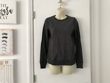 NWT Ralph Lauren Grey Herringbone Cotton Stretch Sweatshirt X-Small XS